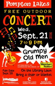 Free Outdoor Concert - Wednesday, September 21, 2016 7 pm to 9 pm