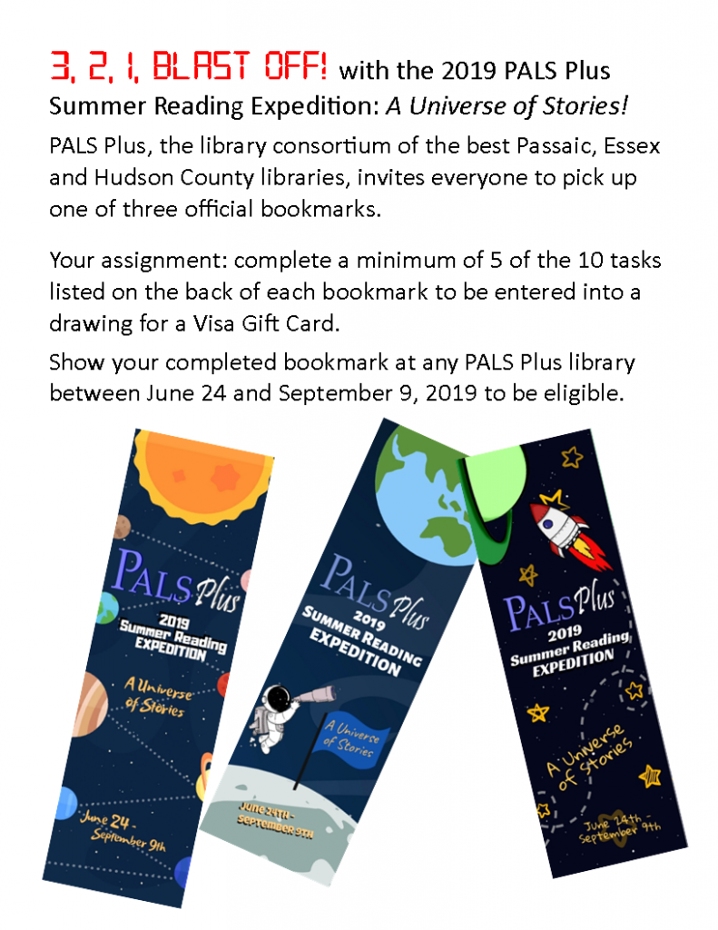 2019 PALS Plus Summer Reading Expedition: A Universe of Stories!