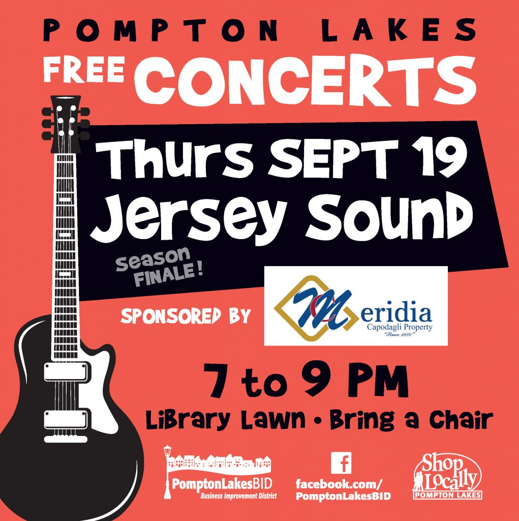 PL BID Season Finale! - Jersey Sound - Thursday, September 19, 7 p.m. to 9 p.m.