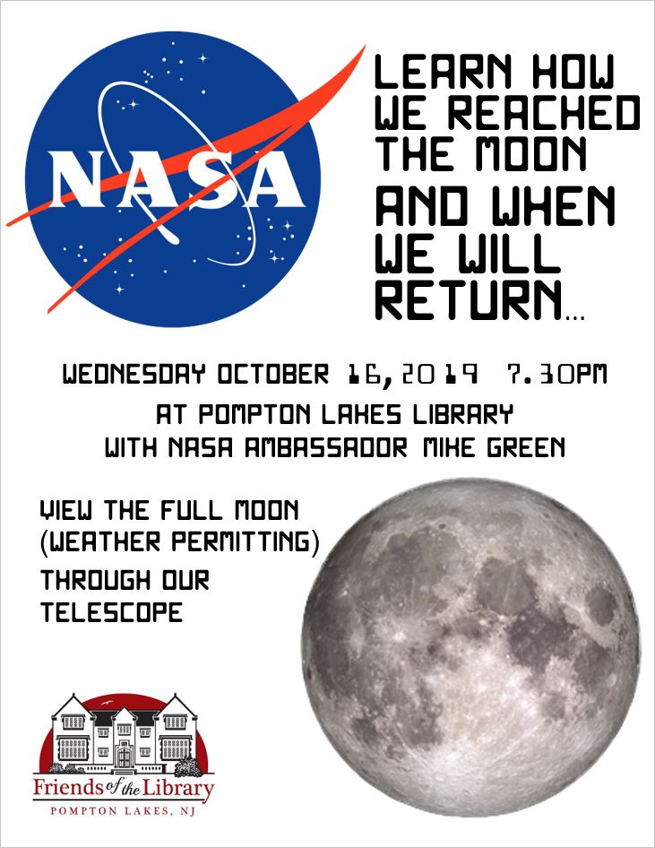 Library Friends - October 16, 2019 - NASA ambassador Moon program