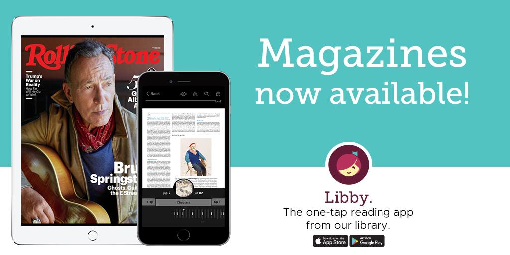 Click here to access magazines via Libby